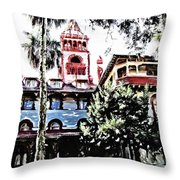 Flagler College View Throw Pillow