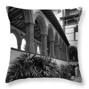 Flagler College Walkway Throw Pillow