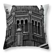 Flagler Memorial Presbyterian Church 3  B-w Throw Pillow