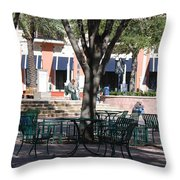 Flagler Park Throw Pillow