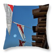 Flags At The Palace Of Governors Throw Pillow