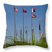 Flags Flags Flags Throw Pillow