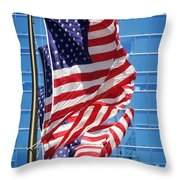Flags Flying Throw Pillow