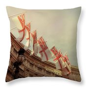 Flags Of London Throw Pillow