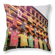 Spanish Flags Throw Pillow