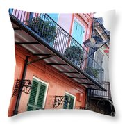 Flags On The Balcony Throw Pillow