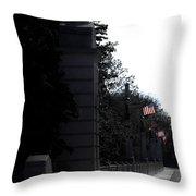 Flags Waving Throw Pillow by Teresa Mucha