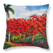 Flamboyans Throw Pillow