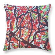 Flamboyant Beauty Throw Pillow