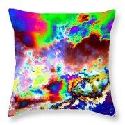 Flamboyant Cloudscape Throw Pillow