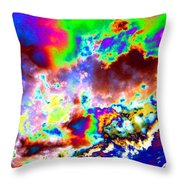 Flamboyant Cloudscape Throw Pillow