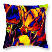 Flamboyant Tulips Throw Pillow