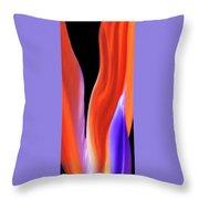 Flame - Bird Of Paradise   Throw Pillow