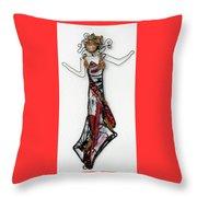 Flame Dancer Throw Pillow