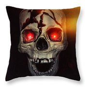 Flame Eyes Throw Pillow