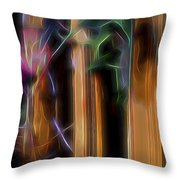 Flame Flower And Bamboo Throw Pillow