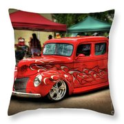 Flame Hot Truck Throw Pillow