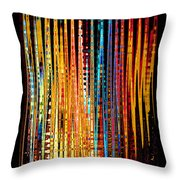 Flame Lines Throw Pillow