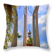 flame of the Sky Throw Pillow