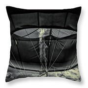 Flame On Hot Air Balloon Throw Pillow