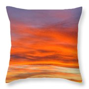 Flame On In Widescape Throw Pillow