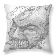 Flamehead  Throw Pillow