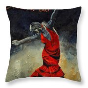 Flamenco 18 Throw Pillow