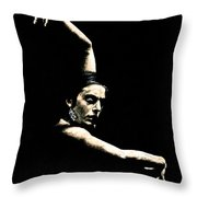 Flamenco Arms Throw Pillow by Richard Young