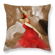 Flamenco Dance Women 02 Throw Pillow