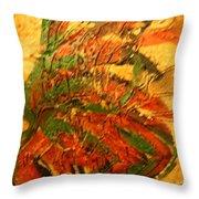 Flamenco Flame - Tile Throw Pillow