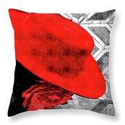 Flamenco Girl Throw Pillow