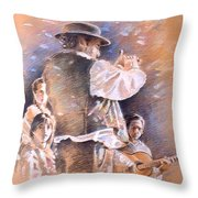 Flamenco Group Throw Pillow