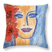 Flamenco Nights - Alicia Throw Pillow