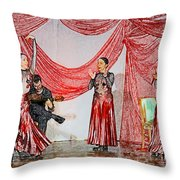 Flamenco Show Nr 4 Throw Pillow