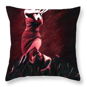 Flamenco Swirl Throw Pillow