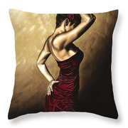 Flamenco Woman Throw Pillow