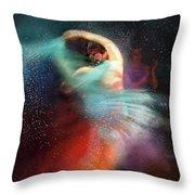 Flamencoscape 02 Throw Pillow