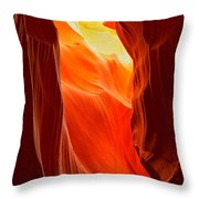 Flames At Upper Antelope Throw Pillow