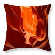 Flames In The Walls Of Antelope Throw Pillow