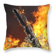Flames Of Age Throw Pillow
