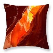 Flames Under Arizona  Throw Pillow