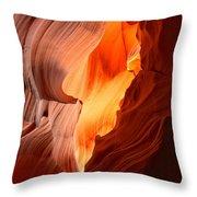 Flames Under The Arizona Desert Throw Pillow