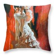 Flamigo Dancing Throw Pillow