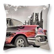 Flamin' 57 Throw Pillow