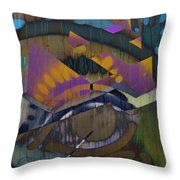 Flamin Heart Stream  Throw Pillow