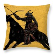 Flaming Arrow Throw Pillow