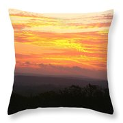 Flaming Autumn Sunrise Throw Pillow