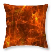 Flaming Background Throw Pillow