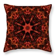 Flaming Catherine Wheel Throw Pillow