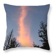 Flaming Clouds Throw Pillow